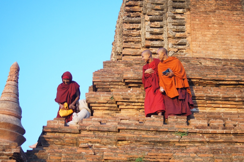 We took pictures of monks and they took pictures of us. Fair enough.