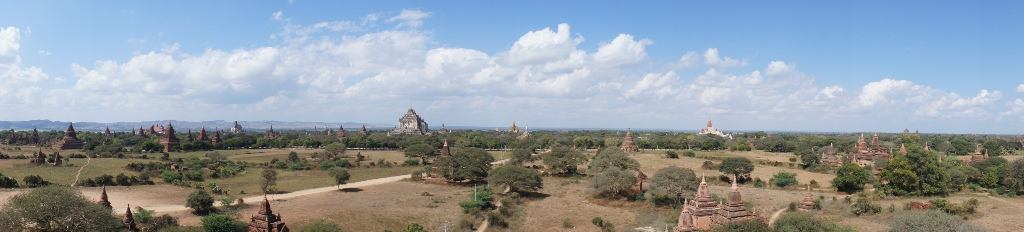 There are over 2200 temples, pagodas and stupas in the Bagan area.