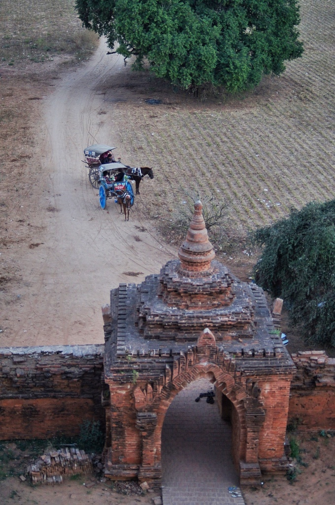 Horse-cart is one of the modes of transportation in Bagan.