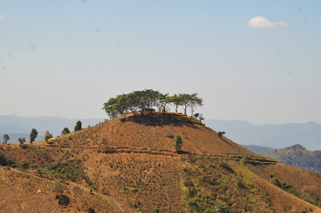 Kalaw area is hilly and dry. Also known for hiking