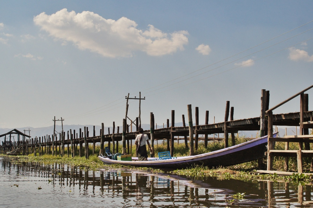 Boats are the major form of transportation around Inle.